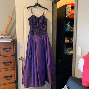 Wedding dress custom purple dinner party dress